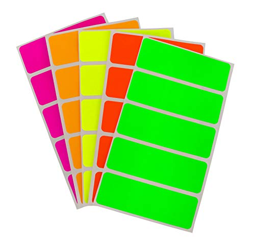 (ChromaLabel 1 x 3 Inch Color-Code Labels | 150 Stickers/Pack (Assorted Fluorescent))