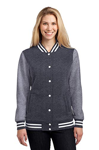 Letterman Jacket Sale (Sport-Tek Ladies Fleece Letterman Jacket, M, Graphite Hethr/)