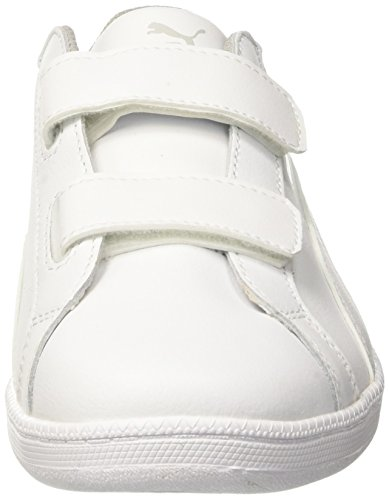 Blanc puma Basses Fun 04 White Enfant Sneakers V Puma puma L White Ps Mixte Smash FqSzxz