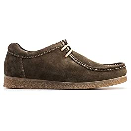 Base London Genesis Suede RV01023 Wallaby Shoes Olive