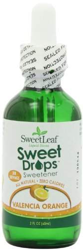 (SweetLeaf Sweet Drops Liquid Stevia Sweetener, Valencia Orange, 2 Ounce (Pack of 2))