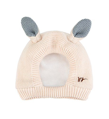 Sumolux Kids Warm Hood Beanies Hat Knitted Hippo Ears Animal Hats Plush Lined Coif for Winter