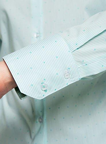 Ajust Chemisier Bleu Ultra oodji Pois Femme 1065g C8taWwq