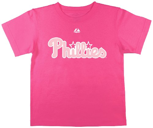 MLB Philadelphia Phillies Girl's Cliff Lee Tee, Deep Pink, Medium – DiZiSports Store