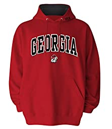 NCAA Men\'s Georgia Bulldogs Hooded Sweatshirt (Red, X-Large)