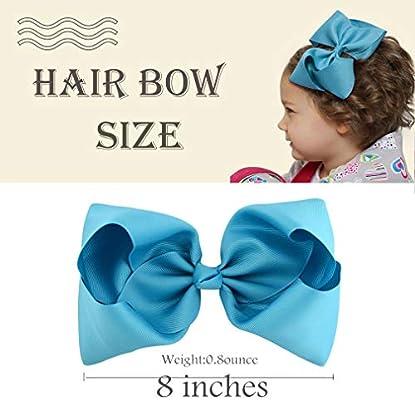 20pcs Big Hair Bows Boutique Girls Alligator Clip Grosgrain Ribbon Headband Z3T5