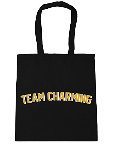 HippoWarehouse equipo encantador Tote Compras Bolsa de playa 42cm x38cm, 10litros negro