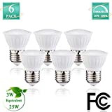 Cheap (Pack of 6) Par16 30Watt LED Bulbs Halogen Flood Light Bulbs, E26 Base Spotlight Bulbs 2700K Warm White 120Volt 300lumens 120Degree Beam Angle Dimmable