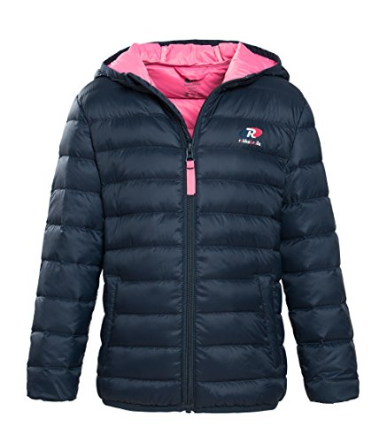 Rokka & Rolla Girls' Ultra Lightweight Hooded Packable Puffer Down Jacket
