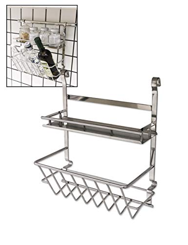 - Spice Rack Wall Mount Organizer Silver