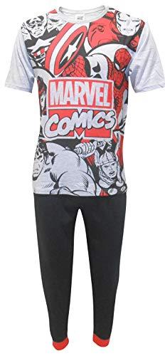 Marvel Comics Men's Avengers Superheroes Two Piece Pajama Set - Small