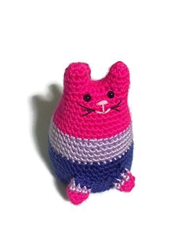 Bisexual Pride Dumpling Cat Amigurumi