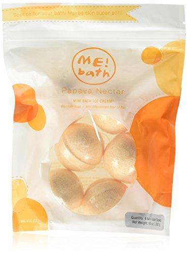 - ME! Bath Mini Bath Bombs, Crafted in the USA, Papaya Nectar, Pack of 3 (18 Mini Bombs)
