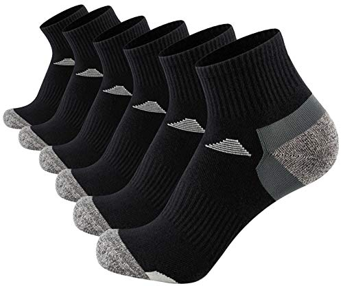 Aserlin Mens Athletic Ankle Socks Performance Cotton Cushioned Colorful Socks for Sports, Dress & Casual Socks 6-Pack