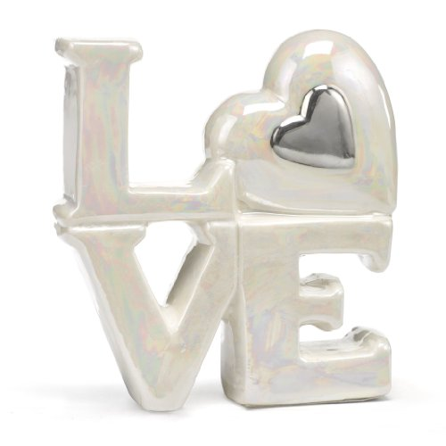 Hortense B. Hewitt Porcelain Love Cake Tops Wedding Accessories, (Porcelain Wedding Cake Top)