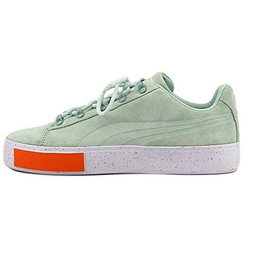 Puma x DP Court Platform SS Men Round Toe Suede Green Sneakers Gossamer Green Ee77yrrwUZ