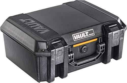 Vault by Pelican - V300 Pistol Case with Foam (Black) (Ammo Storage Pelican)