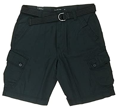 Calvin Klein Jeans Mens Belted Cargo Shorts