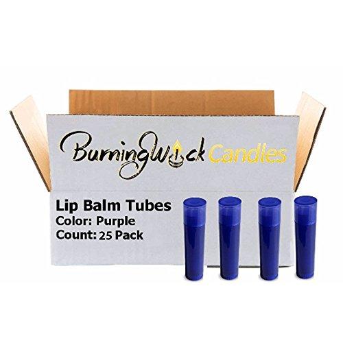 25 Empty Lip Balm Containers - Purple Bulk Chapstick Tubes B