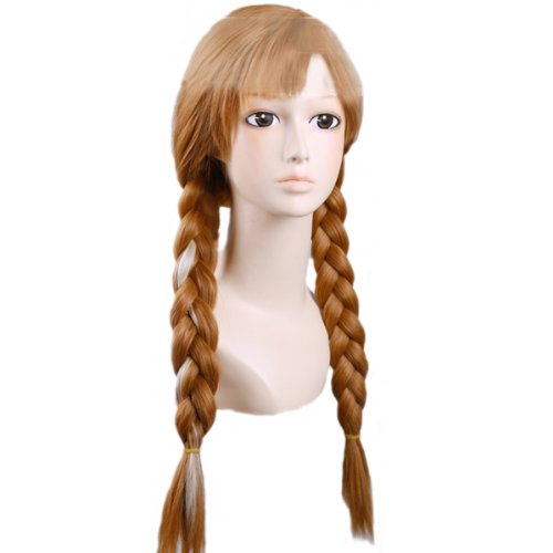 Angelaicos Women's Brown Wig Long Braided Halloween Cosplay Wigs