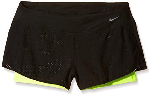 Nike gamba vestito Perforated Rival 2 in 1 Shorts Women Nero