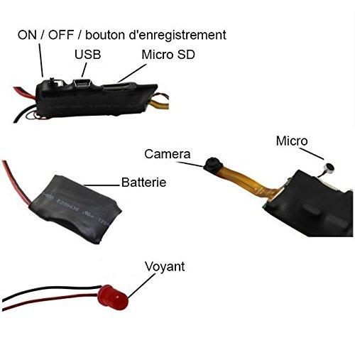 Mini cam/éra espion HD 1080P t/él/écommand/ée /à d/étecteur de mouvement