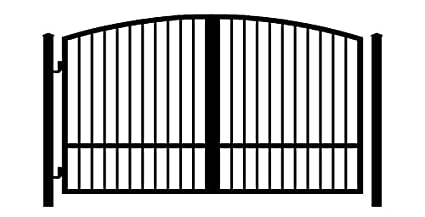 amazon com standardgates metal wood security gates wrought iron