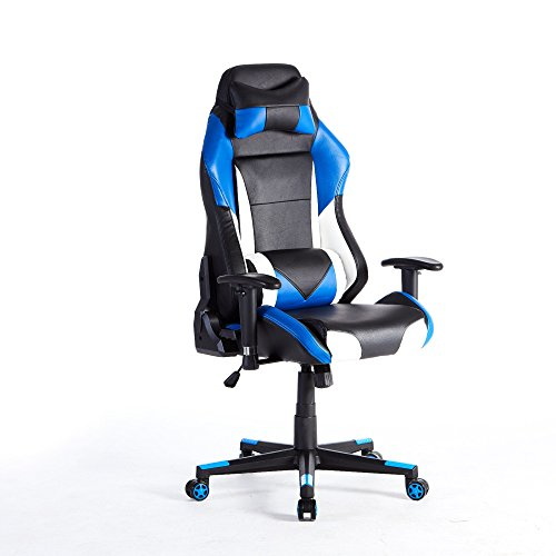 41pelBluAxL - HOMEFUN-Ergonomic-Gaming-chair-Racing-Style-with-Bucket-Seat