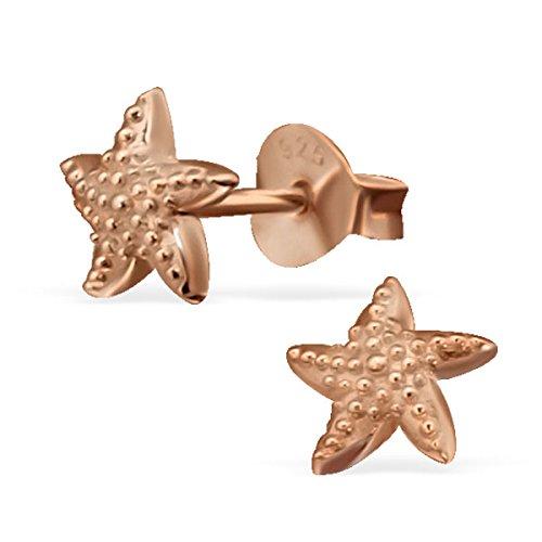 So Chic Bijoux © Enfant Boucles d'oreilles Etoile de Mer Argent 925