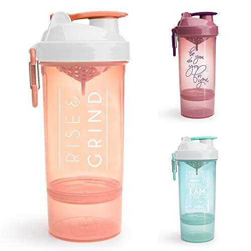 SmartShake Shaker Bottle with Motivational Quotes