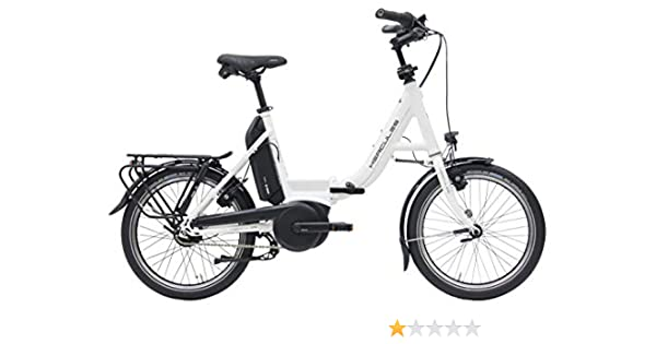 Hercules E-Bike Rob Fold F8 - Bicicleta eléctrica plegable (20 pulgadas, motor Bosch Active Line Plus, batería de 400 Wh, cambio de buje Shimano), color Blanco, tamaño 46 cm, tamaño de rueda