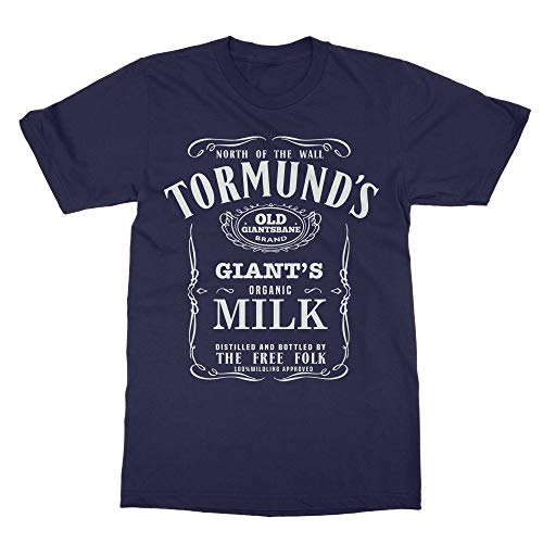 (Memento Tormund's Old Giantsbane Brand Giant's Milk Game Shirts Thrones T-Shirt (Navy, XXXX-Large))