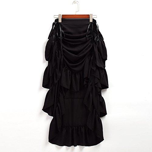 Jupe Victorien Noir Steampunk Femmes GRACEART qtCvXfw