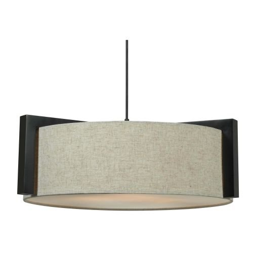 Kenroy Home 91593MBR Teton 3 Light Pendant - Prairie Hanging Finish