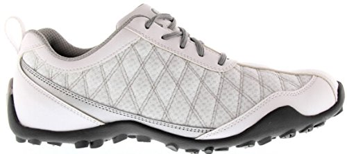 FootJoy Superlites Women's Golf Shoes 98819 White/Silver 7.5 Medium