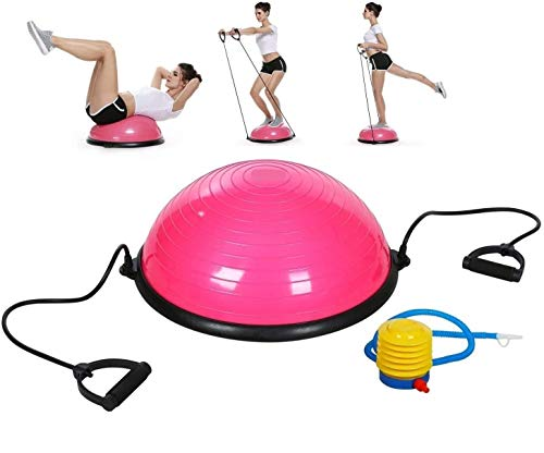 5 Star TD Balance Stability Half Ball for Abdominal Abs Balance Strength Training Exercise Fitness Workout with Workout…