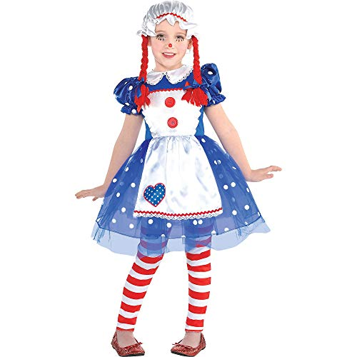 Suit Yourself Rag Doll Halloween Costume for Girls, Small, Includes Accessories -