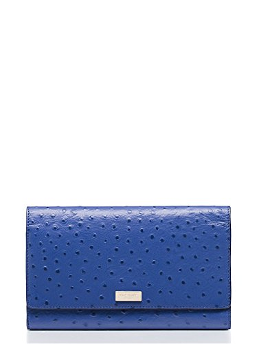 Kate Spade Riverside Street Ostrich Phoenix Passport Wallet, Lake Blue by Kate Spade New York