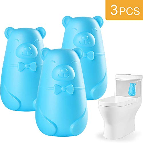 Automatic Toilet Bowl Cleaner, Toilet Tank and Bathroom Cleaning System, Bleach and Blue Cleaning with Natural Plant Scent (3-Pack)