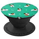 Cute Jack Russell Dog Pattern Gift for Dog Puppy Owners - PopSockets Grip and Stand for Phones and Tablets