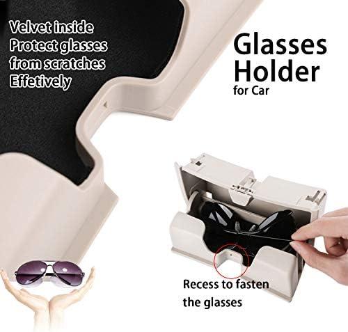 Kwaks ABS Lunettes Box Holder Lunettes de Soleil Voiture Compatible pour 14-19 BMW X5 X6 F15 F16 lanterneaux Lunettes Coffret de Rangement