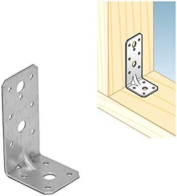 Charges Lourdes Angle Equerre Renforcee Avec Nervure Construction Connecteur A Bois Galvanise 9 5 X 5 3 X 4 5 Cm Amazon Fr Bricolage