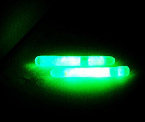 KENGEL® 50pcs (25bags) diameter 4.5mm Float Glow Stick Night Fishing Green Fluorescent (4 Green Glow Stick)