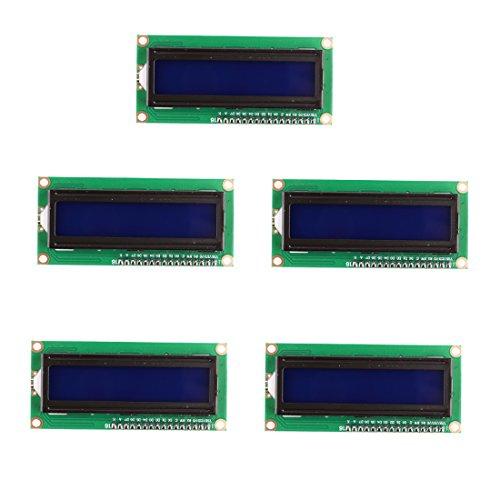 YIFAN LCD Module 16X2, 5Pcs IIC/I2C/TWI 1602A LCD Module Blue Blacklight Display for Arduino Uno R3 Mega 2560