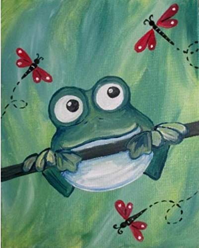 - Lovezy Embroidery 5D DIY Diamond Painting Embroidery Inlay Watercolor Drawing Frog Eye Art Fashion Crafts Gift Home Decoration