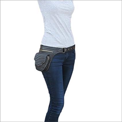 ba1095079 Eyes of India - Black Leather Belt Waist Bum Hip Pouch Bag Utility Fanny  Pack Pocket Travel  Amazon.ca  Home   Kitchen