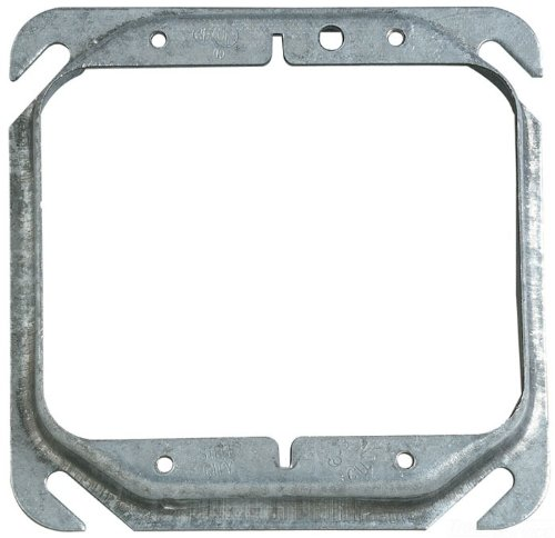 Steel City 52C17-25 Device Cover, Square, Raised, 4-Inch, Galvanized, -