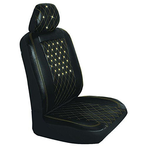 Pilot Automotive Pilot SWRX-0117A Swarovski Crystal Enhanced Gold Diamond Stitched Seat Cover