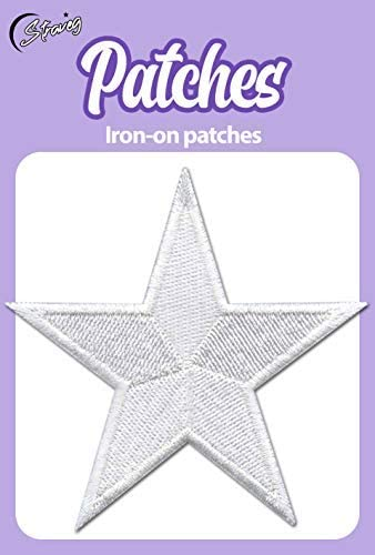 "3/"" Embroidered Iron-on Star Patches Your choice of colors Set of 5 stars"