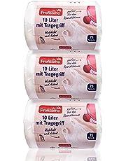Profissimo Cosmetica-emmer vuilniszak met draaggreep - 10 liter - 225 stuks (3x75) - scheurvast & vloeistofdicht